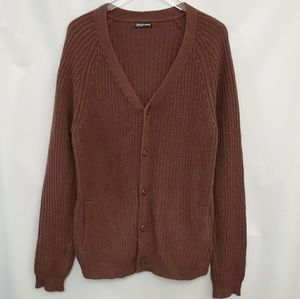 American Apparel oversized Brown Knit Cardigan